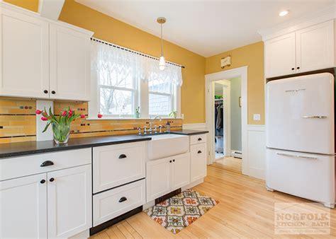 norfolk kitchen and bath manchester 50 s retro style white kitchen