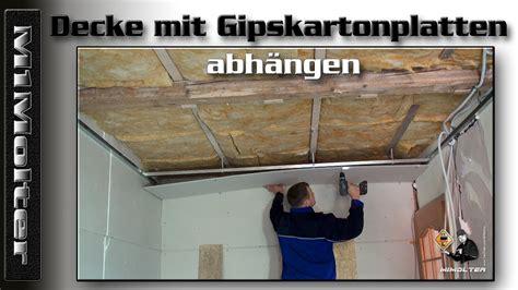 Decke Mit Gipskartonplatten Abhängen, Anleitung Von