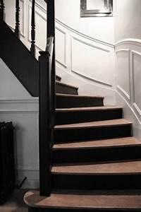 Décoration D Escalier Intérieur : escalier d co peinture noire moderne ~ Nature-et-papiers.com Idées de Décoration