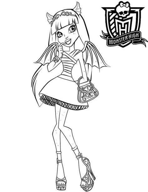 Coloriage Monster High à Imprimer Gratuitement