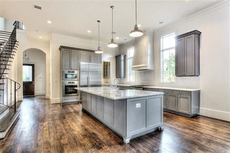 l shaped kitchen with island and pantry gray kitchen transitional kitchen har L Shaped Kitchen With Island And Pantry