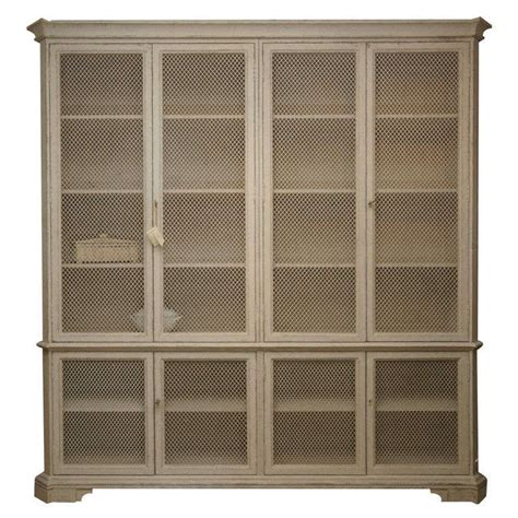 wire mesh for cabinets large cabinet in distressed grey paint with wire mesh doors