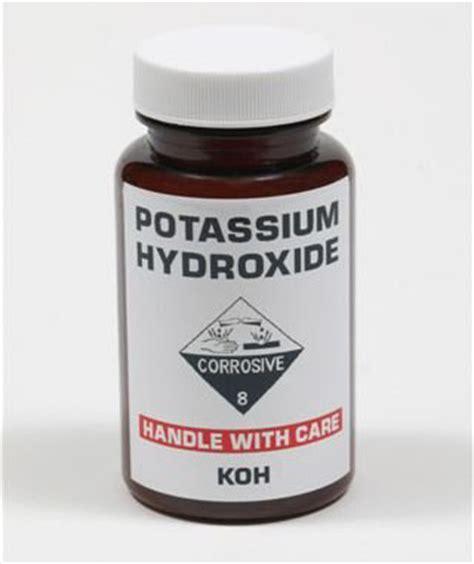 potassium hydroxide online final chm151