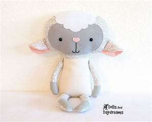 lamb pdf sewing pattern stuffed toy animal sheep softie With sewing templates for stuffed animals