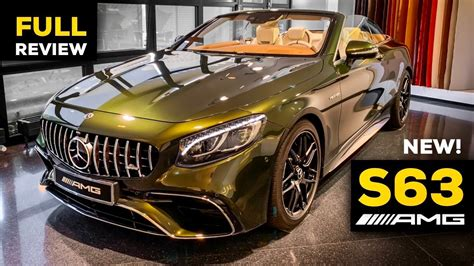 Within every family, there's at least one rebellious child or cousin. 2020 MERCEDES AMG S63 Cabriolet NEW FACELIFT V8 FULL Review 1 OF 1 Exclusive S Class 4MATIC ...