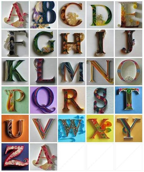 quilling quilled alphabets diy pinterest quilling