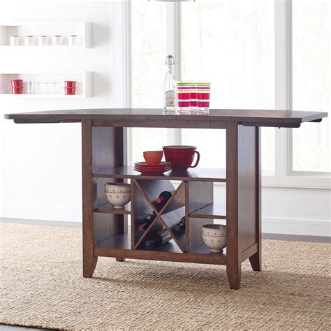 island table with storage solid wood kitchen island with protected top and wine 4849
