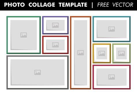 photo collage template  vector   vector