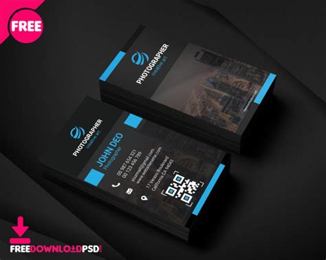 photography business card freedownloadpsdcom