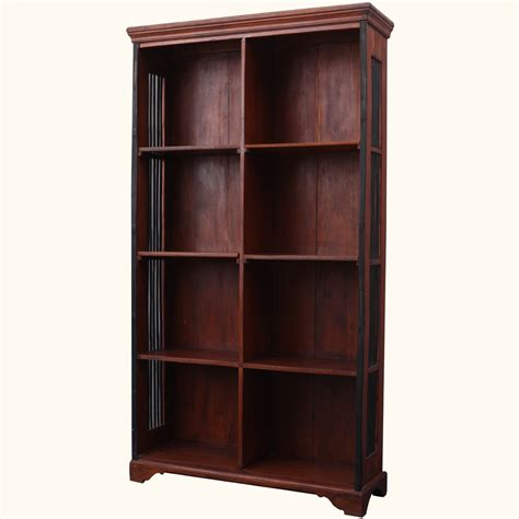 Display Bookcase by Solid Wood Shaker Adjustable Shelves Open Display Cabinet