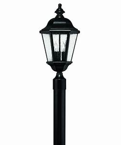 hinkley lighting 1671 edgewater 10 inch wide 3 light With lamp post light repair