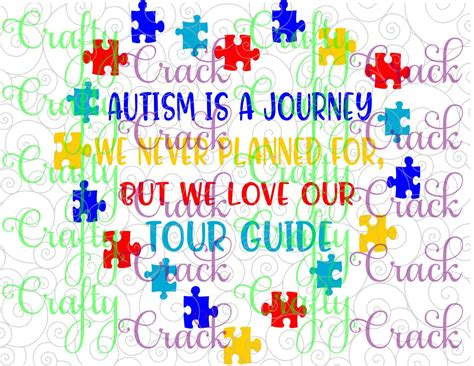 I thought this would look great with gold foil on a black tote. Autism Tour Guide SVG, DXF, PNG - Digital Download for ...
