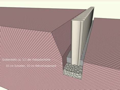 hang befestigen beton hangbefestigung mit palisaden garten am hang garten garten ideen und palisaden