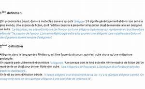 Définition Du Mot : all gorie la d finition ~ Medecine-chirurgie-esthetiques.com Avis de Voitures