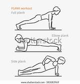 Plank Exercise Workout Coloring Template Sketch sketch template