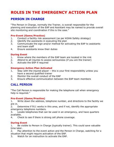 emergency action plan template check   https