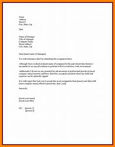 10  Resignation Letter Sample With Notice Period