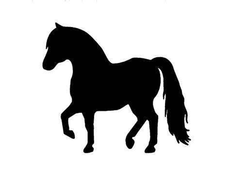 horse silhouette miniature pony mini silhouettes clip clipart metal horses painted inch steel usa cliparts each paint getdrawings library picclick