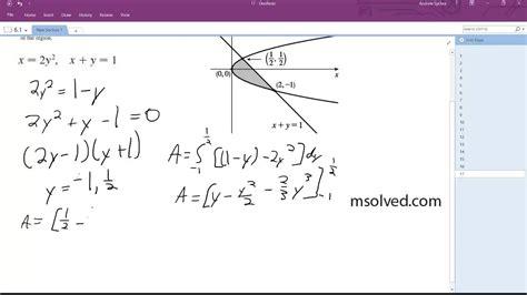 X = 2y^2, X+y = 1