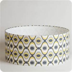 Abat Jour Tissu : abat jour design pour lampe lampadaire ou suspension en tissu motif vintage groovy ~ Teatrodelosmanantiales.com Idées de Décoration