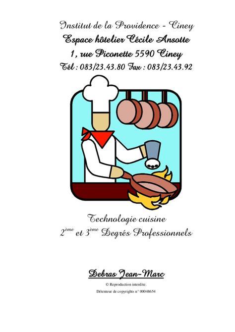 cuisine pour gar輟n 63799851technologie cuisine termine avec couverture et page garde ver
