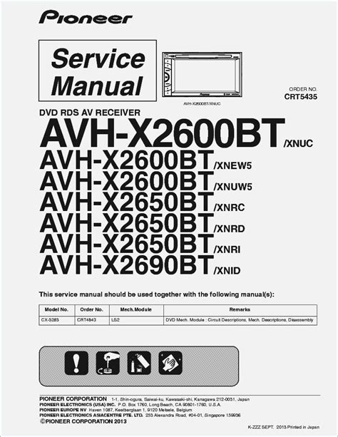 pioneer avh x2600bt wiring diagram moesappaloosas