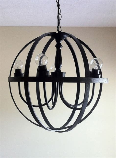 diy black orb chandelier decoist