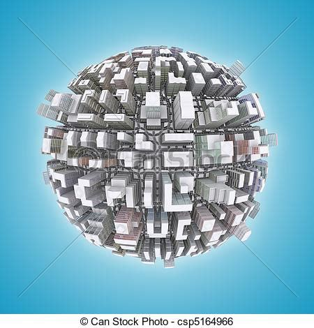 stock illustration   city planet concept csp