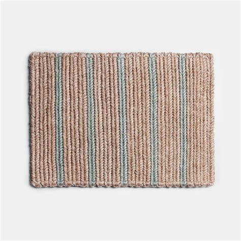 Braided Doormat by Braided Doormat Seafoam Stripe Someware