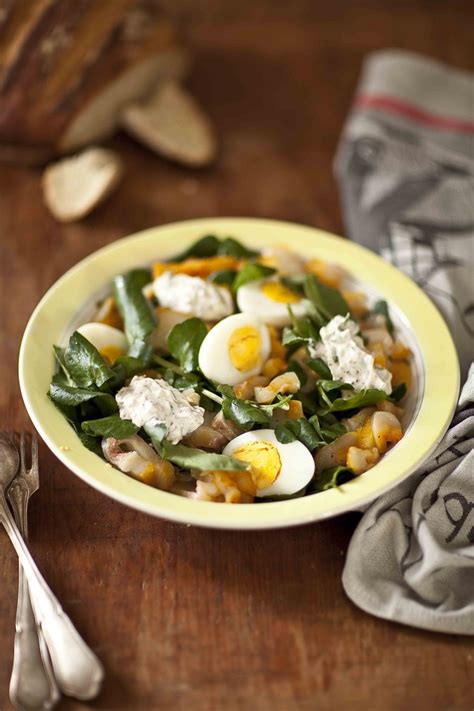 cuisiner potimarron salade de cresson au haddock mariné