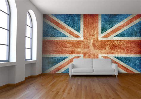 union jack wall mural wallpaper london  wallpapered