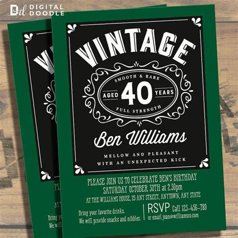 Awesome FREE Template 40th Birthday Party Invitations