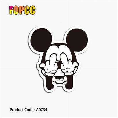 Mouse Mickey Funny Stickers Cartoon Phone Decals