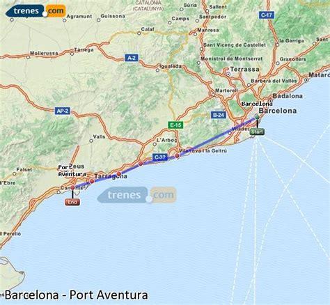 carte barcelone port aventura