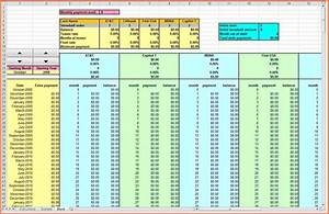 Credit Card Payoff Spreadsheet 12 Credit Card Debt Payoff Spreadsheet Excel