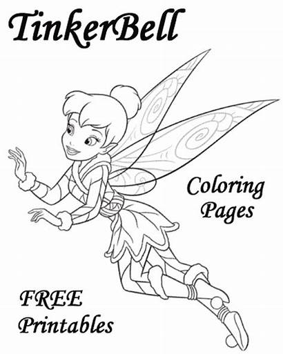 Tinkerbell Coloring Pages Cartoon Printable Friends Disney