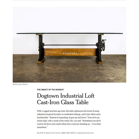 desk that goes up and down dogtown industrial loft cast iron glass dining table