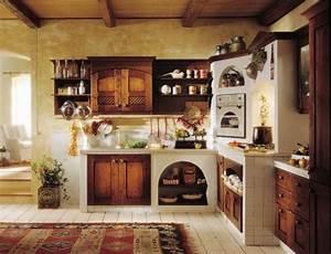Cucina in muratura esterna stile francese di ulivo