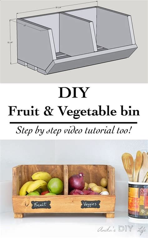 easy diy vegetable storage bin  divider perfect