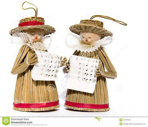 carol singers with sheet music royalty free stock photos