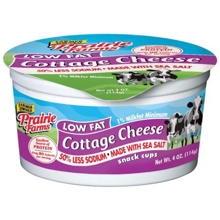 Low Cottage Cheese by Prairie Farms Low Cottage Cheese 4 Oz Walmart