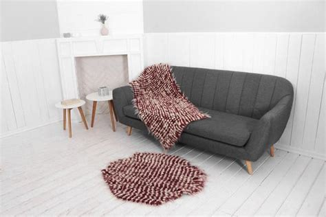 Accent Throw Blanket Wool Sofa Cover Armchair Coverlet