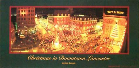 lancaster pa pennsylvania downtown christmas town night photo