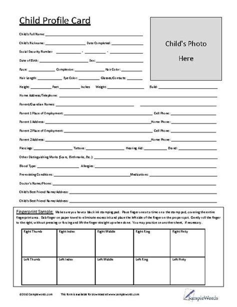 child physical form 17 best ideas about parent forms on pinterest parent