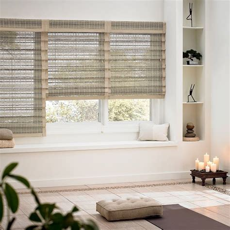 woven wood shades images  pinterest woven wood