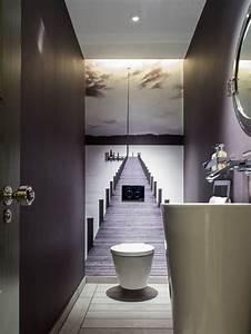 photos et idees deco de wc et toilettes contemporains With decoration des toilettes design