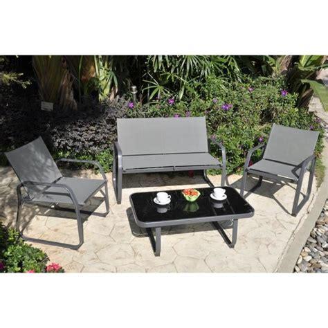 canapé de jardin pas cher palmeri salon de jardin 1 canapé 2 fauteuils et table