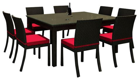 barbados 9 square patio dining set flagship ruby