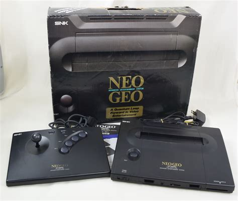 neogeo console neo geo aes console system ref 046889 boxed snk neogeo