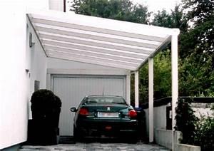 Carport Vor Garage : terrassendach stecher carport mit wandanschlu vor ~ Lizthompson.info Haus und Dekorationen
